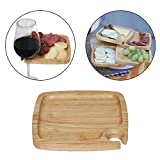 Primeware Cambridge 5 Tier Appetizer Server Plates with Wine Glass Holder (Square)