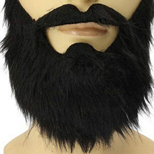 Party Masks - Fashion Funny Costume Carnivals Halloween Party Mask Male Man Beard Facial Hair Disguise Game Black - Adults Superhero Masks Bulk Masquerade Gold Couples Glasses Dinosaur Male -