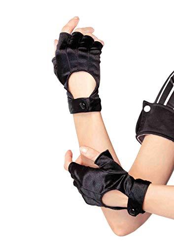 Womens Biker Costumes - Leg Avenue Women's Fingerless Motorcycle Gloves,