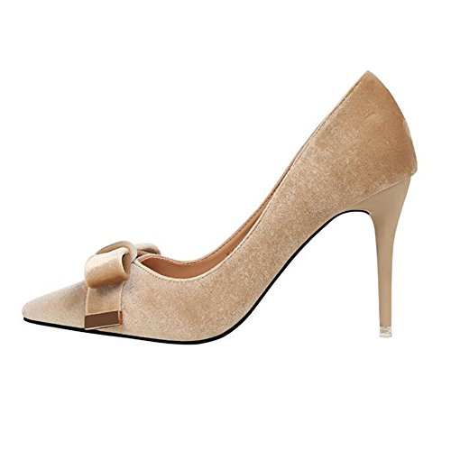 Verano color Stiletto 9cm Primavera Bowknot O Zapatos uk5 Cmodo Eu38 Moda Tacn 3 Tama Yixiny Taln cn38 5 Y Mujer 2 Scrub De Alto Pq866Zw