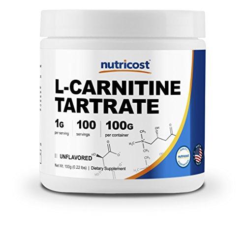 Nutricost L-Carnitine Tartrate Powder (100 Grams) - 1 Gram per Serving; 100 Servings