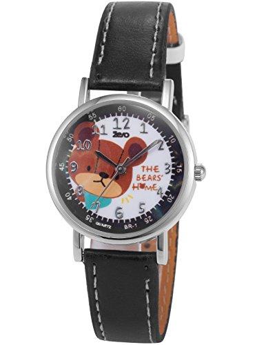 AMPM24 PHN017, Unisex Quartz Watch, White Dial, Bear, Analog, Synthetic Leather Band