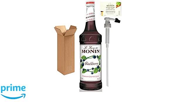 Amazon.com : Monin Blackberry Syrup, 25.4-Ounce (750 ml) Glass Bottle with Monin BPA Free Pump. Boxed. : Grocery & Gourmet Food