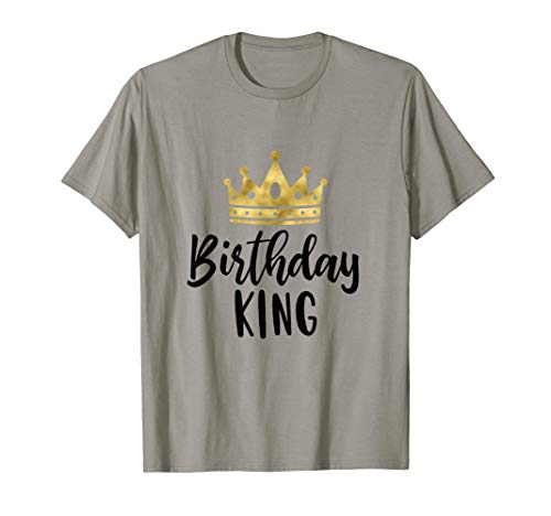 (Birthday King T Shirt For Men Party Boys Adults Crown Kids)