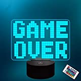 Lampeez Pixel Game Over LED Lamp Night Light 3D