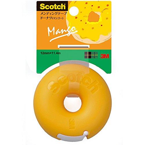 3M Scotch Donut Tape Dispenser - Mango Orange - 12 mm X 11.4 m