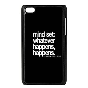 Qxhu whatever happens happens don't stress Hard Plastic Back Protective case for Ipod Touch4