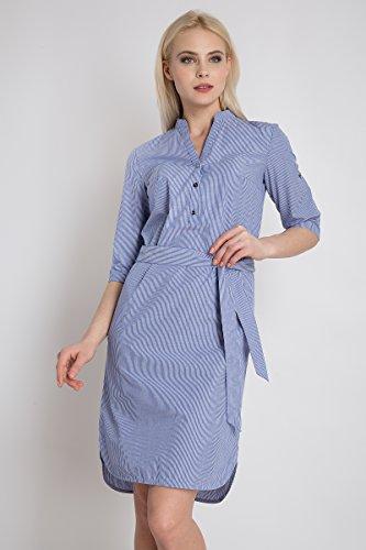 Flare Streifendesign Cosmic Blue Kleid Damen Finn mit 6wUqxIdIR