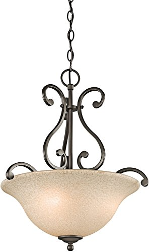 Bronze Bowl Pendant Light in US - 1