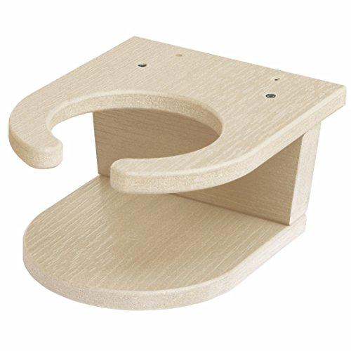 Highwood Screw-On Cup Holder Attachment, Whitewash (Marine Grade Outdoor Furniture)