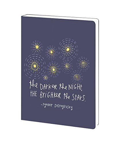 Tree-Free Greetings Brighter Stars Inspirational Soft Cover Journal, 5.5 x 7.5 Inches, 160 Lined Pages, Dostoevsky Quote (JR89992)