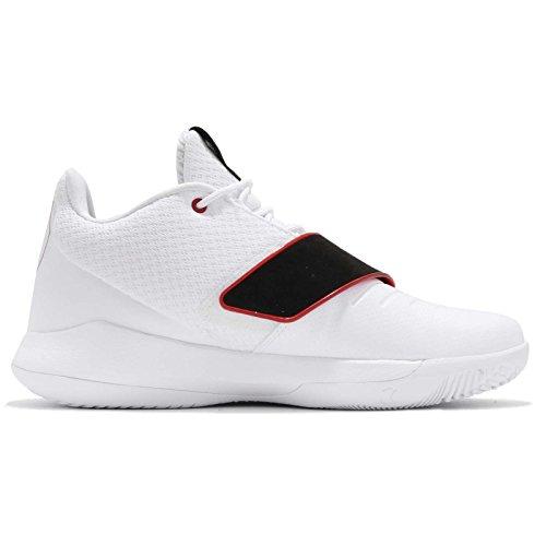 Nike Jordan Heren Cp3.xi, Wit / Universiteit Rood-zwart Wit / Universiteit Rood-zwart