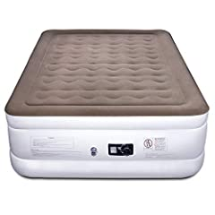 Queen air mattress with built in pump and manual valve. ideal for guest and camping