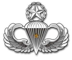 MilitaryBest US Army Master 1 Combat Jump Wings Decal Sticker (1 Combat Jump Wings)