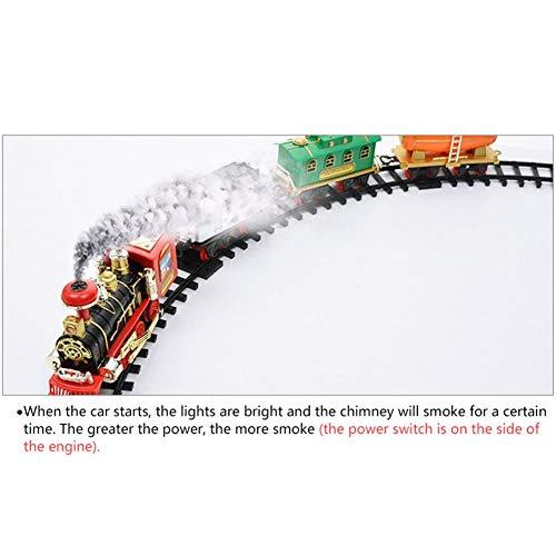 gaeruite Electric Orbit Tren de Tren Juego de Tren de Juguete con Control Remoto, Simulación Tren de Tren de Juguete con Humo Real: Amazon.es: Hogar