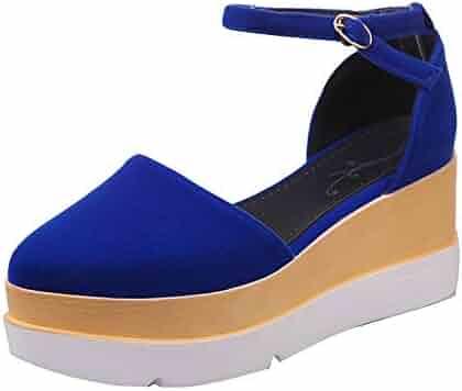 debee6921d4 VESNIBA LLC Women s Autumn Casual Wedge Sandals Retro with high Heels  Platform Pump Shoes Waterproof and