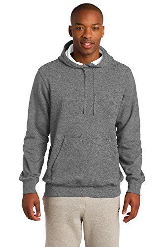 Sport-Tek Men's Pullover Hooded Sweatshirt S Vintage Heather (Sport Pullovers Hooded Fleece)