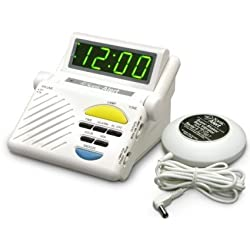Sonic Alert SB1000SS Boom Alarm Clock with Bed Shaker