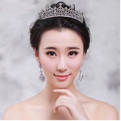 Price comparison product image Quantity 1x 2017_ Crown Tiara Party Wedding Headband Women Bridal Princess Birthday Girl Gift _shadow_floor_stand_ model _Car_Show_clothing_ Bridal Headdress / Bridal Crown Tiara Party Wedding Headban