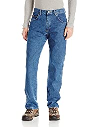 Wrangler Men\'s Rugged Wear Relaxed Fit Jean ,Antique Indigo,40x32