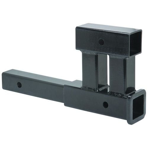 "Dual 2"" Receiver Trailer Hitch Extension Extender Rise Dr..."