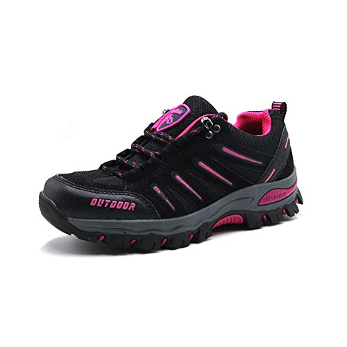 BomKinta Women's Hiking Shoes Anti-Slip Lightweight Breathable Quick-Dry Trekking Shoes for Women Black Size 9.5