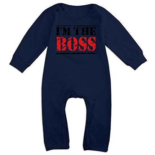[OLGB Babys I'm The Boss Red Letter Long Sleeve Bodysuit 18 Months] (Baby Golfer Costume)