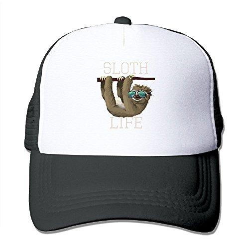 ZhiqianDF Mens Sloth Life Funny Animal Sunglasses Fashion Baseball Black Mesh Hats Adjustable - New Balance Sunglasses Men's