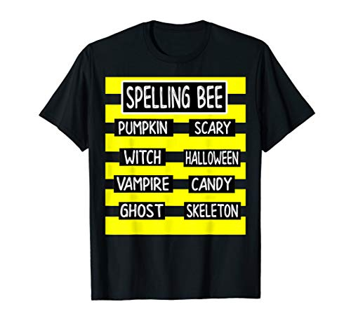 Spelling Bee Funny Pun Halloween Costume for