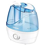 VicTsing Cool Mist Humidifier, Ultrasonic Humidifiers for Bedroom, Whisper Quiet for Baby, Dial Knob Control Adjustable Mist Mode, Waterless Auto-Off, Powerful Mist Output