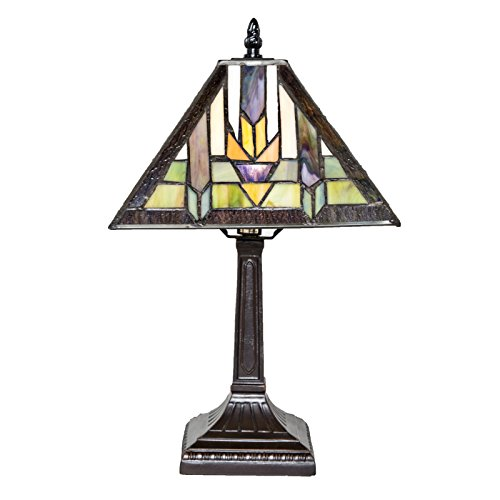 Southwestern Stained Glass Table Lamp - 15.5
