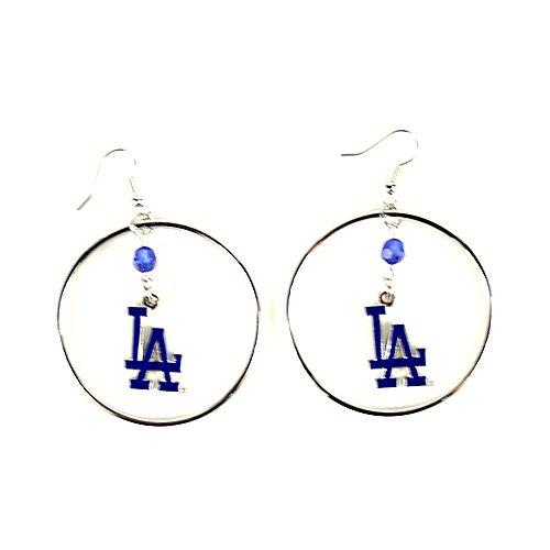 MLB Los Angeles Dodgers Color Bead Hoop Earrings