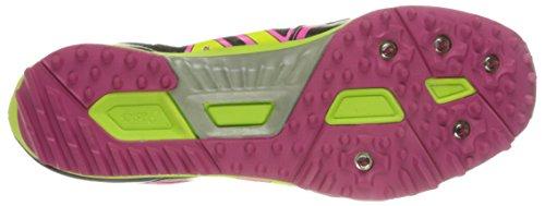 Asics Womens Iper Rocketgirl Xc Scarpa Spike Nero / Hot Pink / Flash Giallo