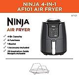 Ninja Air Fryer (AF101), 4 Quart, Black/Gray