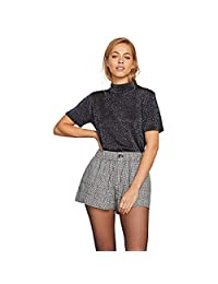 Volcom Ur a Plaid Girl - Pantalones Cortos para Mujer