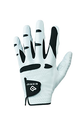 Bionic Gloves –Men's StableGrip Golf Glove W/Patented Natural Fit Technology Made from Long Lasting, Durable Genuine Cabretta (Skin Fit Glove)