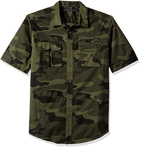 Sean John Men's Short Sleeve Flight Shirt, camo Print, 3XL from Sean John