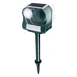 Gardigo - Repelente Solar Ultrasónico Espantapájaros, Ahuyentador Ultrasonidos para Espantar Aves Carpinteros Pichones Gorriones: Amazon.es: Jardín