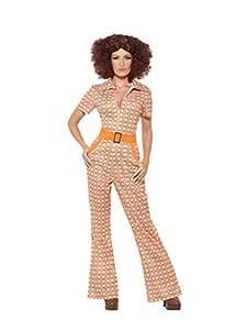 Smiffys Auténtico Traje Elegante de los años 70, con Mono