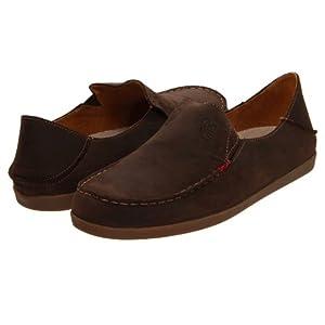 OluKai Nohea Nubuck Shoe - Women's Dark Java/Tan 9