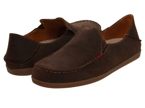 OLUKAI Nohea Nubuck Shoe - Women's Dark Java/Tan 9 by OLUKAI