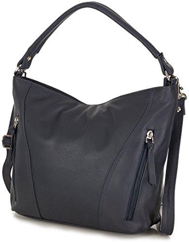 x à 5 en véritable Taschenloft 31 à bleu x italien main bandoulière foncé femme cuir 23 Sac sac cm 9 5xqaT