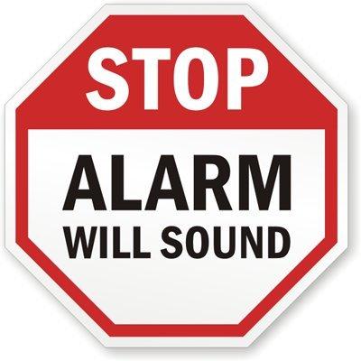 Amazon.com: Stop: alarma sonará cartel, 18