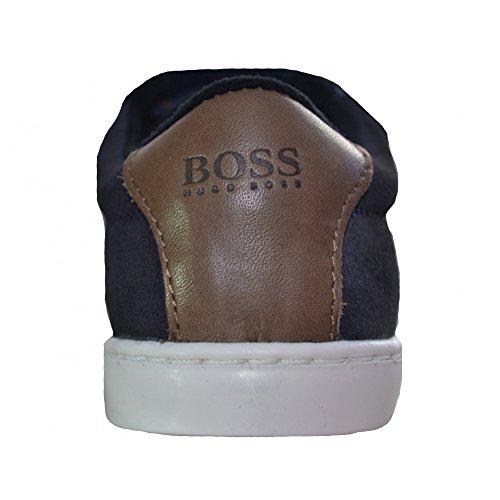Hugo Boss Kids Dark Navy Velcro Trainers 21 (Euro)