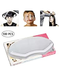 Tingbeauty 100 PCS Microblading Permanent Makeup Shower Face Shields Visors, Disposable Face Shields Masks for Hairspray Salon Supplies and Eyelash Extensions Eye Eyelid Surgery Aftercare