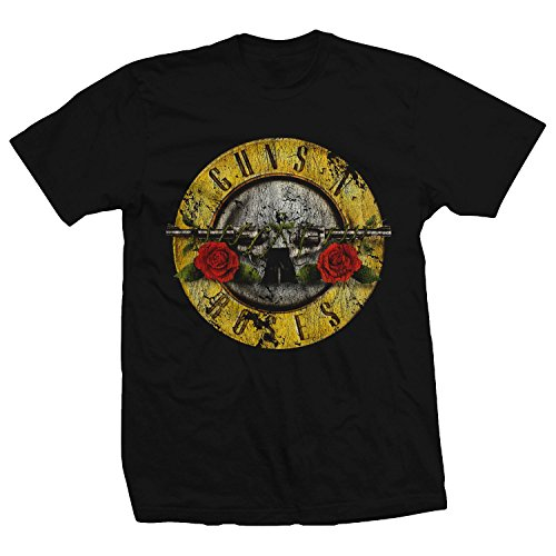 Bravado Guns N' Roses Distressed T-Shirt Medium Black