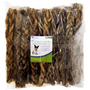 Pet's Choice Pharmaceuticals Braided Bully Sticks (Pack of 50), 12''