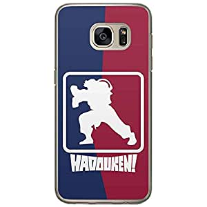 Loud Universe Samsung Galaxy S7 Street Fighter NBA Type Hadouken! Printed Transparent Edge Case - Multi Color