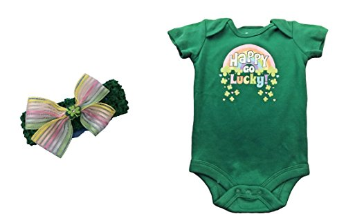 st-patricks-day-baby-girl-happy-go-lucky-bodysuit-plus-headband-bow-0-3-months