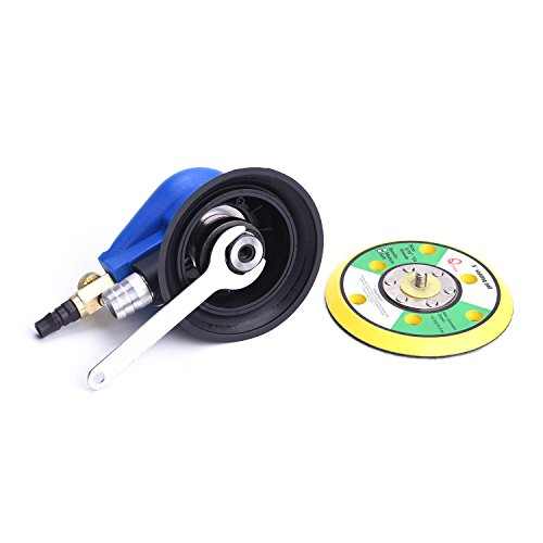 Professional Orbital Sander 5'' Dual Action Palm Sander for Auto Body Work, Hook and Loop Vacuum System by ZHONG AN (Image #3)